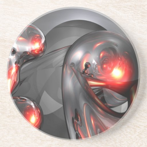 Mercury Rising Abstract Coaster