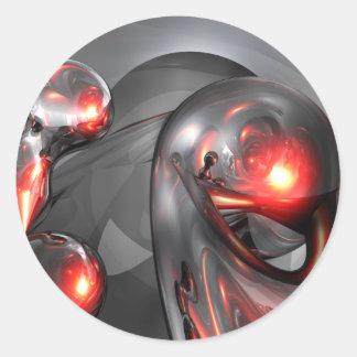Mercury Rising Abstract Sticker