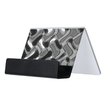 Professional Business Mercury & Sable Desk Business Card Holder