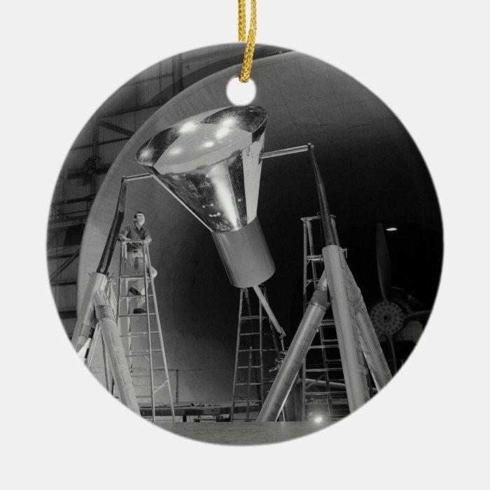 Mercury Space Capsule Undergoes Testing 1959 Ceramic Ornament