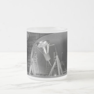 Mercury Space Capsule Undergoes Testing 1959 Frosted Glass Coffee Mug