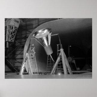 Mercury Space Capsule Undergoes Testing 1959 Poster