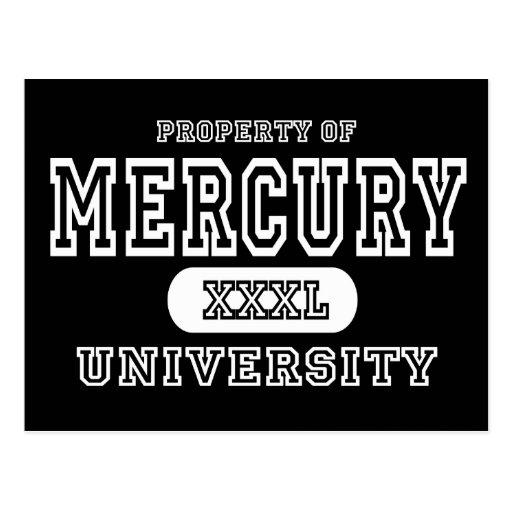 Mercury University Dark Postcards