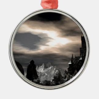 mercury world metal ornament