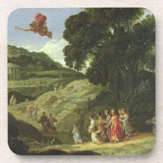 Mercury y Herse, c.1605-08 (aceite en lona) Posavasos