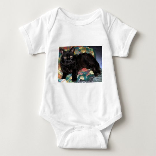 Mercury's Old Eyes - Cat photograph Baby Bodysuit