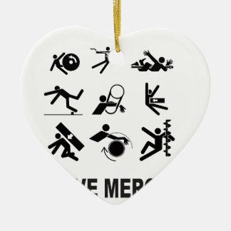 mercy mercy me ceramic ornament