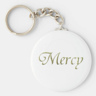 """Mercy"" Virtues Product Basic Round Button Keychain"