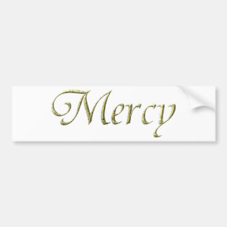 """""""Mercy"""" Virtues Product Bumper Stickers"""