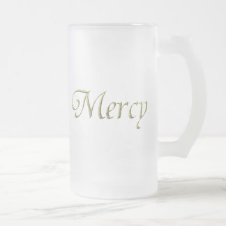 """""""Mercy"""" Virtues Product Frosted Glass Beer Mug"""