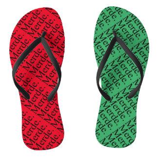 Merde Christmas Flip Flops for Nutcracker Season