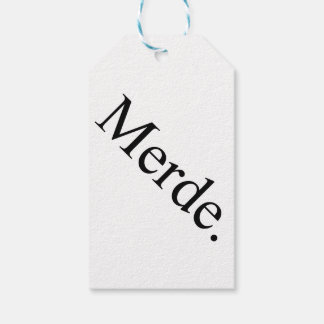 Merde gift tags for ballet dancers - good luck!
