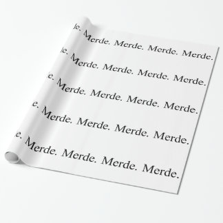 Merde wrapping paper for ballet dancers