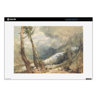 "Mere de Glace, in the Valley of Chamouni, Switzerl 15"" Laptop Skin"