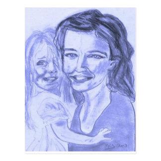 mère et fille 001 couleurs postcard
