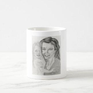 mère y fille tazas de café