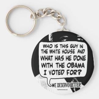 Merecemos mejor del engranaje de Barack Obama Llavero Redondo Tipo Pin