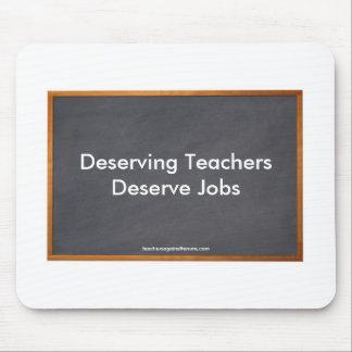 Mereciendo los profesores merecen los trabajos co tapete de ratones