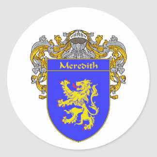 Meredith Coat of Arms (Mantled) Classic Round Sticker