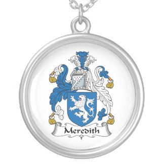 Meredith Family Crest Round Pendant Necklace