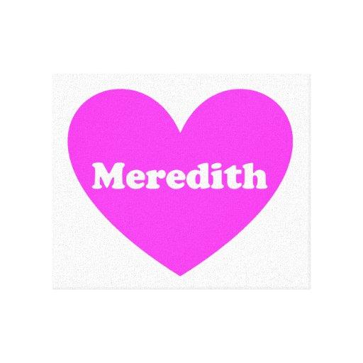 Meredith Impresion De Lienzo