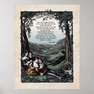 """Meredith """"Pastorals"""" Victorian Art Poster"""