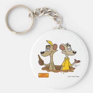 Merely Meerkats Keychain