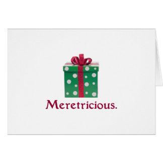 Meretricio. ¡Y una Feliz Año Nuevo! Tarjeta De Felicitación