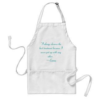 Merezco la mejor cita de Jane Austen del Delantal
