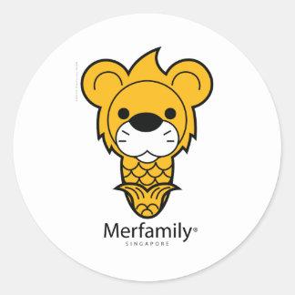 """""""Merfamily®"""" SINGAPORE Classic Round Sticker"""