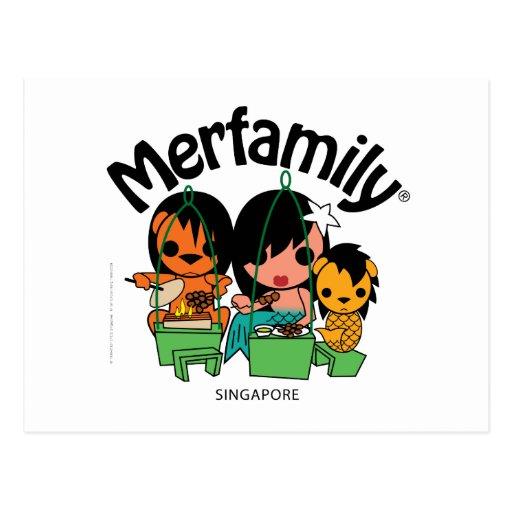 Merfamily® Singapur Satay Tarjetas Postales