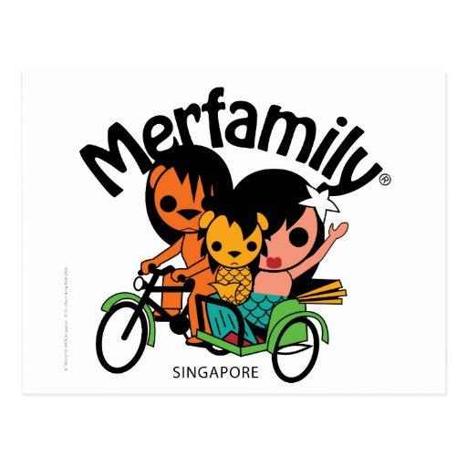 MERFAMILY® Singapur Trishaw Postal