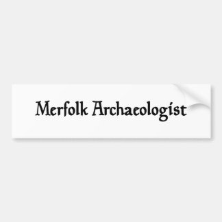 Merfolk Archaeologist Sticker Car Bumper Sticker