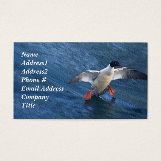 Merganser Duck Business Card