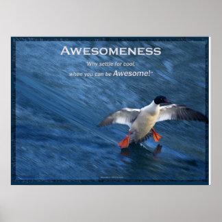Merganser Duck Motivational Poster