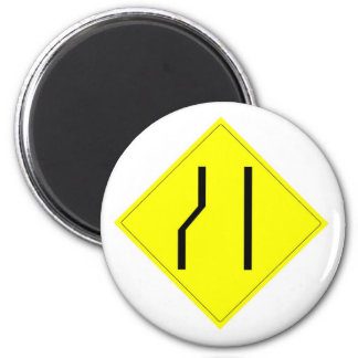 Merge Right Sign 2 Inch Round Magnet