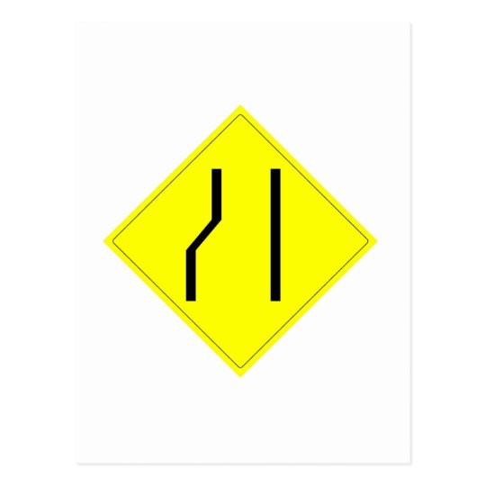 Merge Right Sign Postcard