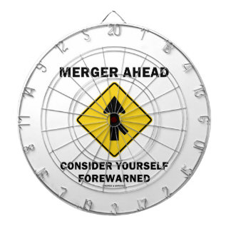 Merger Ahead Consider Yourself Forewarned Sign Dart Boards