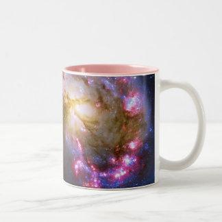Merging Galaxies - The Antennae Galaxies Two-Tone Coffee Mug