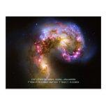 Merging Galaxies - The Antennae Galaxies Postcards