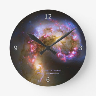 Merging Galaxies - The Antennae Galaxies Round Clock