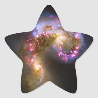 Merging Galaxies - The Antennae Galaxies Star Sticker