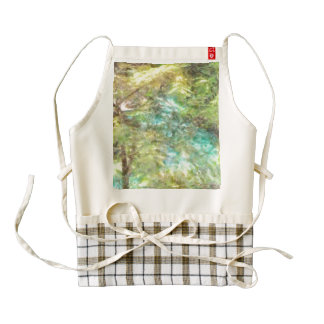 Merging of water and greenery zazzle HEART apron
