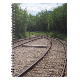 Merging Railroad Tracks: The Symbol of our Lives Spiral Notebook