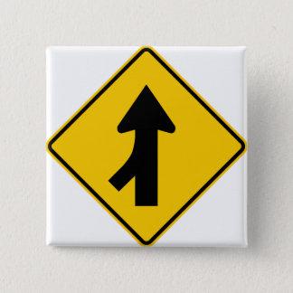 Merging Traffic Highway Sign (Left) Button