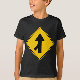 Merging Traffic Highway Sign (Left) T-Shirt