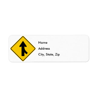 Merging Traffic Highway Sign (Right) Label