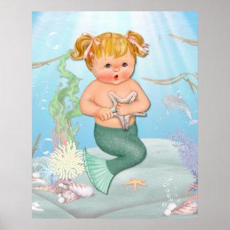 MerGirl con las estrellas de mar Poster