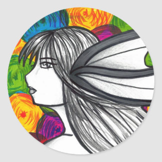 Mergirl of the Neon Lights Round Sticker