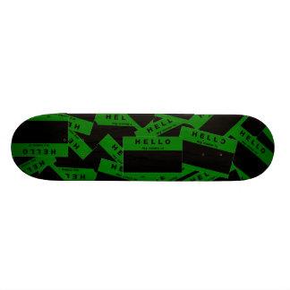 Merhaba Ebony (Green) Skateboard Deck